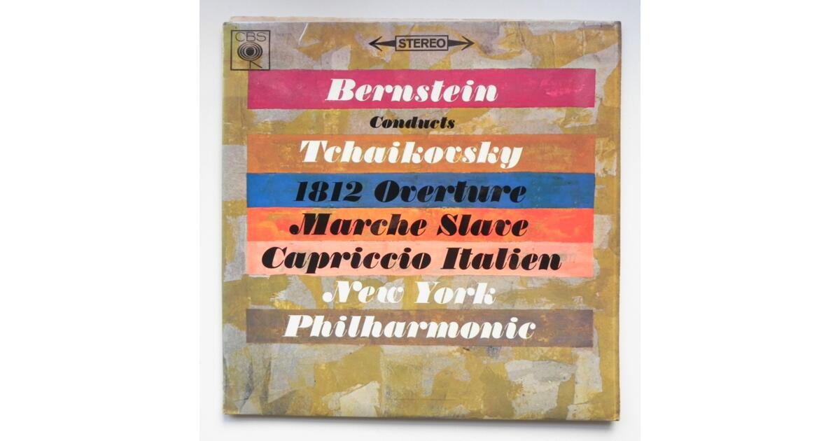 Tchaikovsky 1812 OVERTURE - MARCHE SLAVE - CAPRICCIO ITALIANO / New York  Philharmonic conducted by Leonard Bernstein -- LP 33 rpm - Made in UK