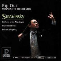 STRAVINSKY - The Song of the Nightingale /  The Forebird Suite / The Rite of Spring -  Minnesota Orchestra  - Eiji Oue, direttore  --  CD HDCD