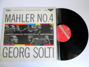 Mahler - Symphony No.4 / Solti & Amsterdam Concertgebouw  --  LP 33 giri Made in Japan