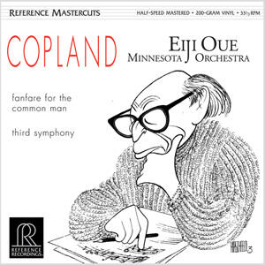 Copland - Fanfare for the Common Man & Third Symphony  - Eiji Oue --  LP 33 giri su vinile 200 grammi Made in USA