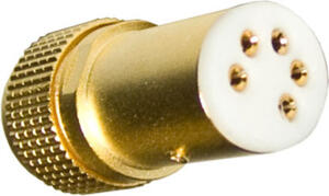 DIN connector 5 PIN for tonearm SME type - Gold plated
