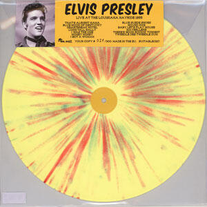 Elvis Presley Live at the Louisiana Hayride 1955 Numbered Limited Edition LP (Clear Yellow Vinyl)