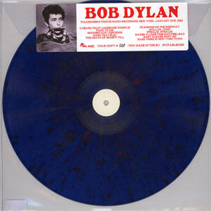 Bob Dylan Folksinger's Choice Radio Recording, New York, January 13, 1962  --  Numbered Limited Edition LP (Clear Blue Vinyl)
