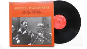 Brahms Concerto for Violin and Cello - Heifetz / Piatigorsky -- LP 33 giri 180 gr. - Made in USA