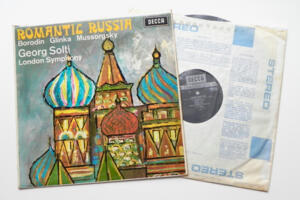 Romantic Russia - Borodin / Glinka / Mussorgsky  / London Symphony Orchestra conducted by Solti  -- LP 33 giri - Made in England