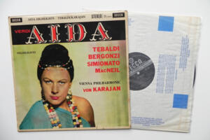 Verdi: Aida  / Tebaldi / Vienna Philarmonic Orchestra conducted by Von Karajan --  LP 33 giri - Made in England  - Seconda Edizione