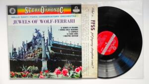 Jewels of Wolf-Ferrari / Paris Conservatory Orchestra / Nello Santi  -- LP 33 giri / Made in England