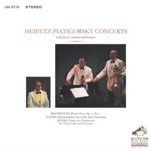 Heifetz-Piatigorsky - Concerts with Jacob Lateiner & Guests  --  LP 33 giri su vinile 180 gr. Made in USA