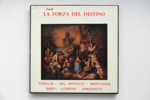 Verdi -  La forza del destino / The Chorus and Orchestra of the Accademia di Santa Cecilia, Rome - F. Molinari Pradelli   -- 4 LP 33 giri - Made in England