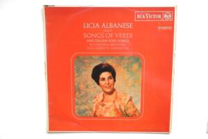 Licia Albanese sings Songs of Verdi and Italian Folk Songs / RCA Italiana Orchestra - René Leibowitz -- LP 33 giri - Made in USA