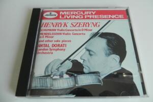 Henryk Szering plays Schumann & Mendelssohn - Encores  --  CD