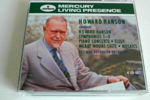 Howard Hanson conducts Howard Hanson - Eastman-Rochester Orchestra  --  Boxset 4 CD