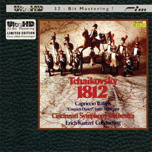 Tchaikovsky - 1812 / Capriccio Italien / Cossack Dance from Mazeppa - Kunzel & Cincinnati Symphony Orchestra  --  CD ULTRA HD 32 Bit Mastering Made in USA