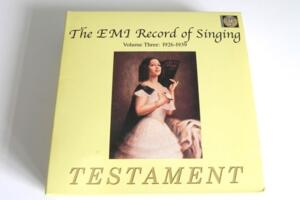 The EMI Record of Singing - Volume Three 1926 - 1939  --  10 CD