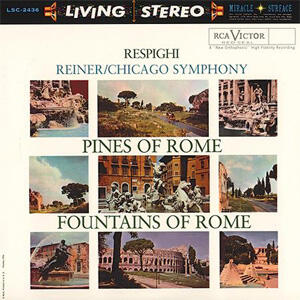 Fritz Reiner - Respighi -  Pines Of Rome & Fountains Of Rome  --  Doppio LP 45 giri su vinile 200 gr. Made in USA