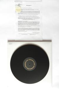 The Funk Firm - ACHROMAT  SL1200 - For Technics SL1200 turntables - 5 mm. - Turntable Mat in BLACK