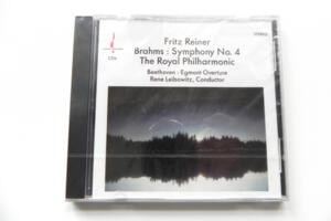 Brahms: Symphony No. 4 - F. Reiner / Beethoven:  Egmont Overture - R. Leibowitz / The Royal Philharmonic  -- CD Made in USA
