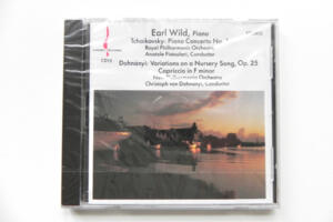Tchaikovsky: Piano Concerto No. 1 - Royal Philharmonic Orchestra - Fistoulari / Dohnanyi: Variations on a Nursery Song, Op. 25 - New Philharmonia - C. von Dohnanyi  -- CD Made in USA