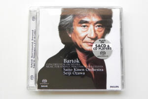 Bartok:  Concerto for Orchestra , Music for Strings, Percussion and Celesta / Saito Kinen Orchestra - Seiji Ozawa  --  SACD Ibrido - Made in EU
