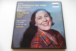 La Fanciulla del West - Puccini / Chorus and Orchestra of the Accademia di Santa Cecilia, Rome - Capuana /  Tebaldi - Del Monaco  --  Boxset 3 LP 33 giri - Made in UK