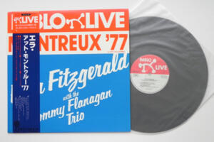 Montreux ' 77 Live / Ella Fitzgerald with the Tommy Flanagan Trio  --  LP 33 giri Made in Japan  OBI