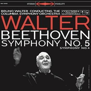 Beethoven - Symphony No. 5 & No. 4 /  Columbia Symphony Orchestra - Bruno Walter, conductor  --  LP 33 giri 180 gr. Made in Germany