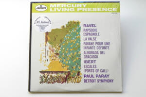Ravel Rapsodie Espagnole - La Valse - Pavane - Alborada / Ibert Escales - Detroit Symphony - Cond. Paul Paray -- 2 LP 45 giri 180 gr. Incisi su singolo lato - Made in USA
