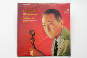 Vieuxtemps Concerto No.5 in A Minor Op 37  - Bruch Scottish Fantasy Op 45 / Heifetz / New Symphony Orchestra of London - Cond. Sargent  --  LP 33 giri 180 gr.  - Made in USA - Sigillato