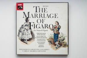 Mozart: The Marriage of Figaro /  Philharmonia Orchestra and  Chorus conducted by Carlo Maria Giulini -- Boxset 3 LP 33 giri - Made in UK