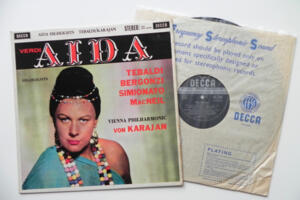 Verdi: Aida  / Tebaldi / Vienna Philarmonic Orchestra conducted by Von Karajan --  LP 33 giri - Made in England - Prima Edizione