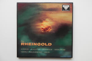 Wagner - Das Rheingold / Vienna Philharmonic conducted by Georg Solti -- Boxset 3  LP 33 giri - Made in England - Prima Edizione del 1959