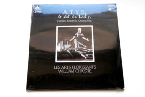 Atys, de M. de Lully / Les Arts Florissants conducted by William Christie -- LP 33 rpm  - Made in France - SEALED - Original 1987 pressing