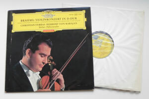 Brahms Violinkonzert in D-Dur / C. Ferras - Berliner Philharmoniker conducted by H. von Karajan --  LP 33 giri - Made in Germany  - Prima Edizione