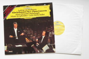 Beethoven Klavierkonzert NO.1 - Piano Concerto / A. Benedetti Michelangeli - Wiener Symphoniker  conducted by Giulini --  LP 33 giri - Made in Germany  - Prima Edizione
