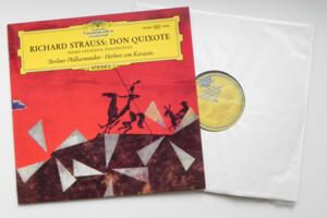 R. Strauss Don Quixote / P. Fournier - Berliner Philharmoniker conducted by H. von Karajan --  LP 33 giri - Made in Germany  - Prima Edizione