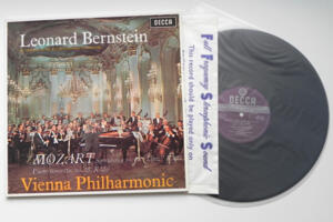 Mozart - Symphony No.  36 Linz - Piano Concerto nr. 15  / Vienna Philharmonic conducted by Bernstein --  LP 33 giri 180 gr. - Made in Europe