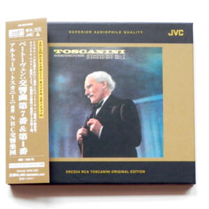 Beethoven SYMPHONY No. 7 and No.1 / NBC Symphony Orchestra  conducted by A. Toscanini  -- XRCD  Made in Japan  OBI