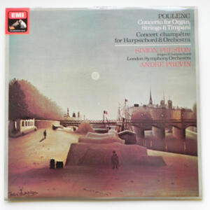 Poulenc CONCERTO FOR ORGAN STRINGS & TIMPANI / London Symphony Orchestra conducted by Previn  --  LP 33 giri - Made in UK