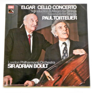 Elgar CELLO CONCERTO / Paul Tortelier / London Philharmonic Orchestra conducted by Sir Adrian Boult --  LP 33 giri - Made in UK