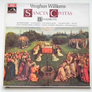 Vaughan Williams SANCTA CIVITAS - BENEDICITE / London Symphony Orchestra conducted by  David Willcocks --  LP 33 giri - Made in UK