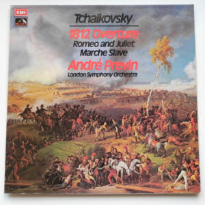 Tchaikovsky 1812 OVERTURE - ROMEO AND JULIET - MARCHE SLAVE / London Symphony Orchestra conducted by André Previn --  LP 33 giri - Made in UK