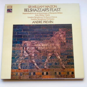 Sir William Walton BELSHAZZAR'S FEAST / London Symphony Orchestra conducted by André Previn  --  LP 33 giri - Made in UK