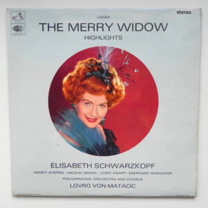 Lehar THE MERRY WIDOW Highlights /  Philharmonia Orchestra and Chorus conducted by Lovro von Matacic --  LP 33 giri - Made in UK