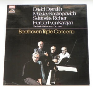 Beethoven Triple Concerto / D. Oistrakh - M. Rostropovich - S. Richter / The Berlin Philharmonic Orchestra conducted by H. von Karajan  --  LP 33 giri - Made in UK