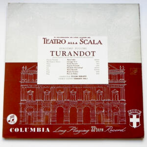 Giacomo Puccini TURANDOT Highlights / Orchestra of la Scala Opera House Milan conducted by Tullio Serafin --  LP 33 giri - Made in UK