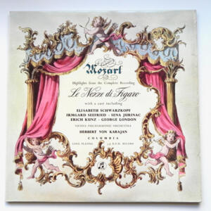 Mozart LE NOZZE DI FIGARO Highlights / Vienna Philharmonic Orchestra conducted by H. von Karajan --  LP 33 giri - Made in UK