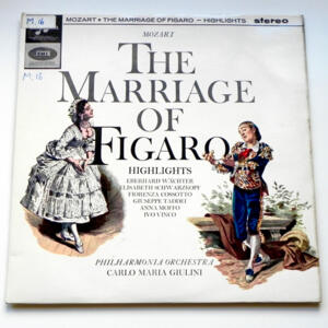 Mozart THE MARRIAGE OF FIGARO Highlights / Philharmonia Orchestra  conducted by C.M. Giulini  --  LP 33 giri - Made in UK
