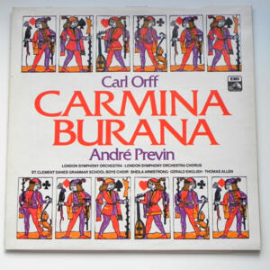 Carl Orff CARMINA BURANA / London Symphony Orchestra conducted by A. Previn  --  LP 33 giri Made in UK