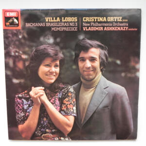 Bachianas Brasileiras No.3 / Villa-Lobos / New Philharmonia Orchestra conducted by V. Ashkenazy  --  LP 33 giri - Made in UK