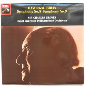 Havergal Brian SYMPHONY No.8 and No.9 / Royal Liverpool Philharmonic Orchestra conducted by Sir Charles Groves  --  LP 33 giri - Made in UK